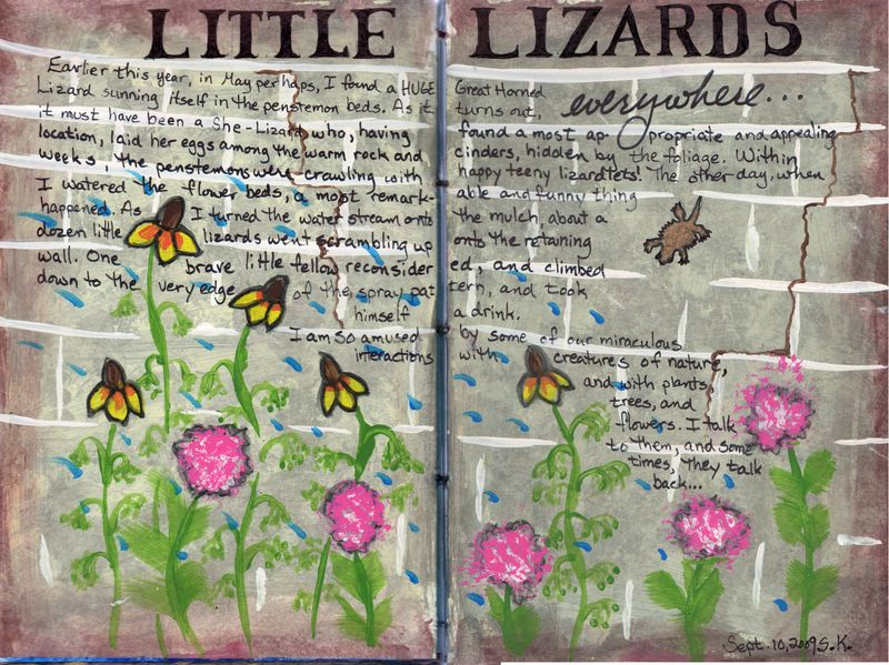 Little lizards journal page