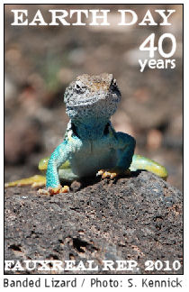 Earthday lizard